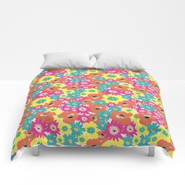 Late spring flowers Comforters