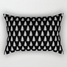 PINE TREES (BLACK) Rectangular Pillow