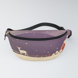 Peaceful Snowy Christmas (Plum Purple) Fanny Pack
