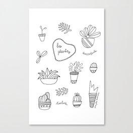 Les plantes Canvas Print