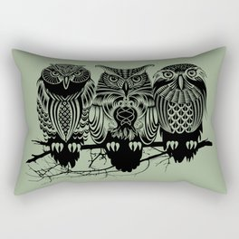 Owls of the Nile Rectangular Pillow