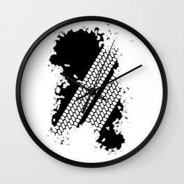 Tyre Tread Grunge Wall Clock