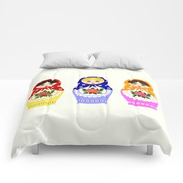 Russian matryoshka nesting dolls Comforters