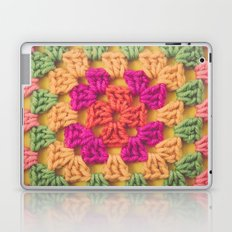 Bright Modern Crochet Pattern Laptop & iPad Skin