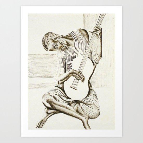 The New Old Guitarist Art Print