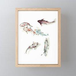 Koi Fish Watercolour Framed Mini Art Print