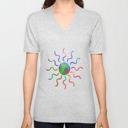 Colorfull Extrusion  Unisex V-Neck