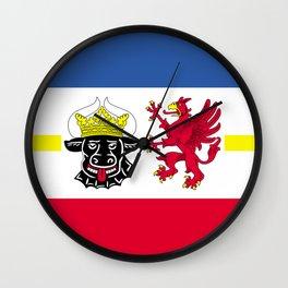 Flag of Mecklenburg-Vorpommern (Mecklenburg-West Pomerania) Wall Clock