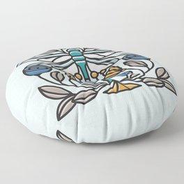 Dragonfly tile Floor Pillow