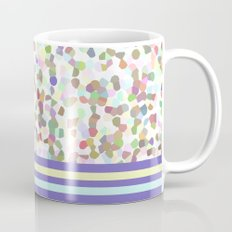 pastel dots with blue Mug