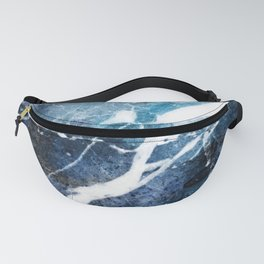 Purple abstract marble Fanny Pack