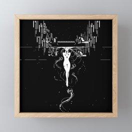 synchroniCity // (nude girl) Framed Mini Art Print