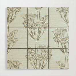 Seed head repeat Wood Wall Art