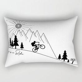cycling mountain bike mountainbike cyclist bicycle MTB gift Rectangular Pillow