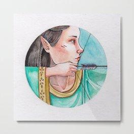 archery princess Metal Print