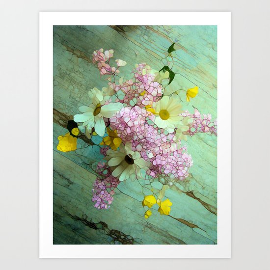 country flowers Art Print