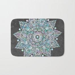 Mermaid Mandala on Deep Gray Bath Mat