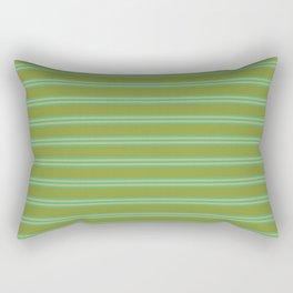 baby poo + mint stripes Rectangular Pillow