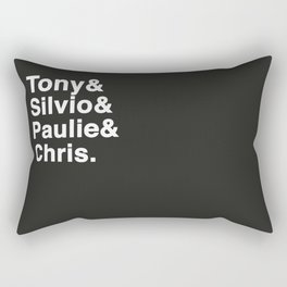 Tony & Silvio & Paulie & Chris. Rectangular Pillow