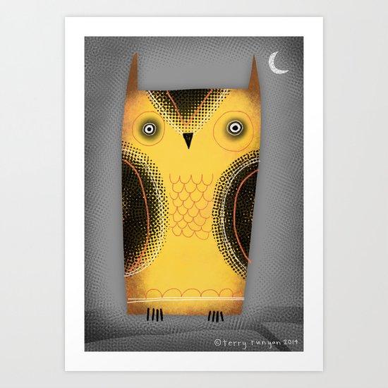 YELLOW OWL Art Print