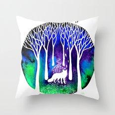 The Night Fox Throw Pillow