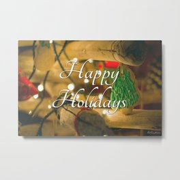 Happy Holidays  #1 - Festive holiday Metal Print