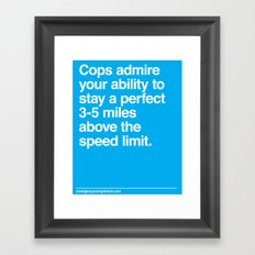 Speed Limit Framed Art Print