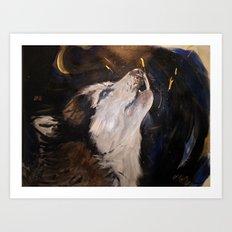 Howling Husky Art Print