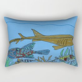 Serene Scene Rectangular Pillow