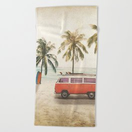 Traveling Time Beach Towel