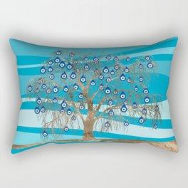 Nazar Charm Tree Rectangular Pillow
