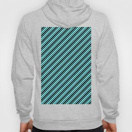 Electric Blue and Black Diagonal RTL Var Size Stripes Hoody