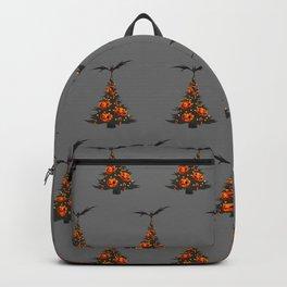 Halloween Christmas Trees Pattern - Gray Backpack