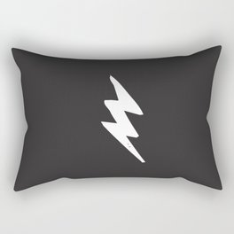 White Lightning Bolt Rectangular Pillow