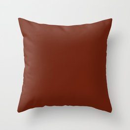 Colors of Autumn Deep Rust Brown Solid Color Throw Pillow