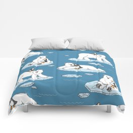 Polar Bear Loves Penguin Comforters