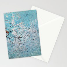 Cracked Wall Texture Blue Stationery Cards