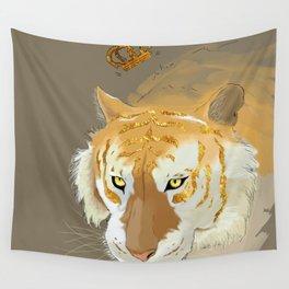 golden tiger Wall Tapestry