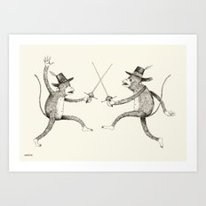 'To The Death!' Art Print