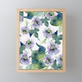 Purple Flowers 2 Framed Mini Art Print