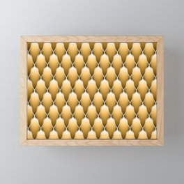 Gold Scallops Framed Mini Art Print