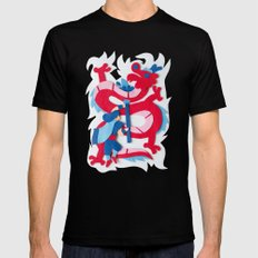 Dragon Slayer Mens Fitted Tee Black MEDIUM