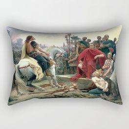 Vercingetorix Throws Down His Arms At The Feet Of Julius Caesar Rectangular Pillow