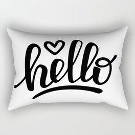 Hello brush lettering Rectangular Pillow