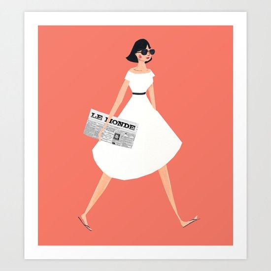 Sunday Paper Art Print
