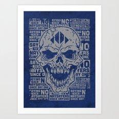 Naysayer Skull Art Print