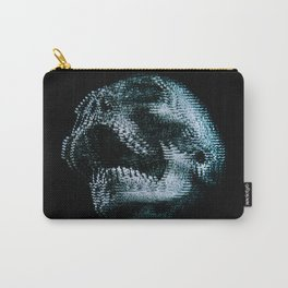 Analogue Glitch Skull Carry-All Pouch