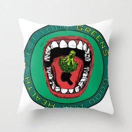Eat Your Greens! Throw Pillow