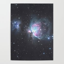 Great Orion Nebula M42, in the constellation of Orion, Milky Way Poster