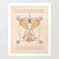 Vitruvian Aang Art Print